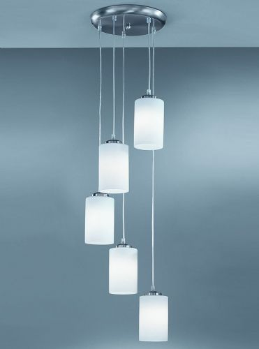 Franklite CO9575 Satin Nickel Pendant Light (no glass)